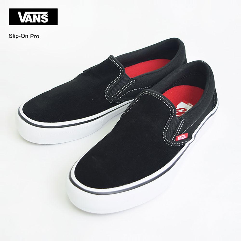 VANS MENSバンズ メンズSLIP ON PRO【VN00097M9X1】BLACK/WHITE/GUMスリッポン プロ靴・メンズスニーカーSS17