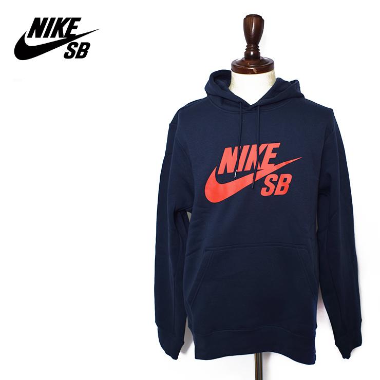 NIKE SB HO'18 Nike SB MENS NIKE SB ICON HOODIE PO ES OBSIDIANHABANERO RED メンズアイコンフーディースウェットパーカー long sleeves