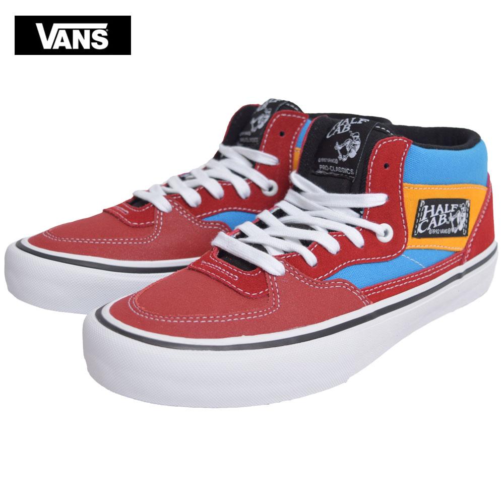 VANS MENSバンズ/ヴァンズ メンズ【VN0A38CPSWQ】Half Cab Proハーフキャブ プロ(Knee Slide) Red / Blueスエード レッド ブルー イエローメンズ スニーカー 靴