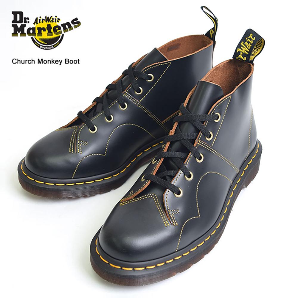 【再入荷】Dr.Martensドクターマーチン メンズ【R16054001】CHURCH MONKEY BOOTBlackモンキーブーツブラック