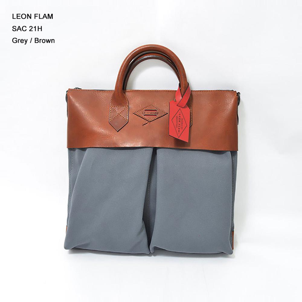 LEON FLAM レオンフラムSAC 21H GREY/BROWNヘルメットバッグ
