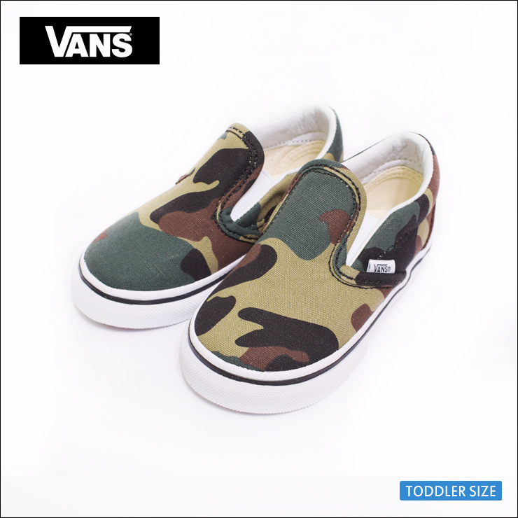 Sneakers shoes for the VANS TODDLER FA '18 vans toddler CLASSIC SLIP ON (Woodland Camo) BlackWoodland classical music slip ons Woodland duck black