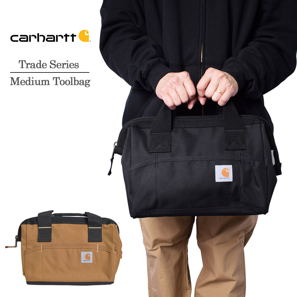 バッグ かばん 鞄 アメカジ ストリート プレゼント Carhartt カーハート 160101 Trade Series Medium Toolbag 工具入れ ボストンバッグ レディース メンズ Black ミディアムバッグ カバン レガシー 《週末限定タイムセール》 男女兼用 ツールバッグ 海外限定
