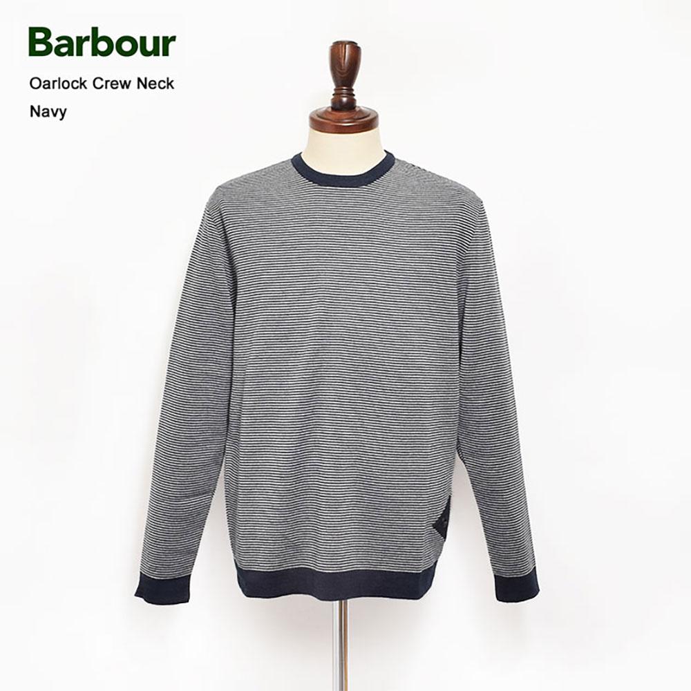 BARBOUR(バブアー)【MKN0948NY91】Oarlock Crew NeckNavyクルーネックニット・ボーダー