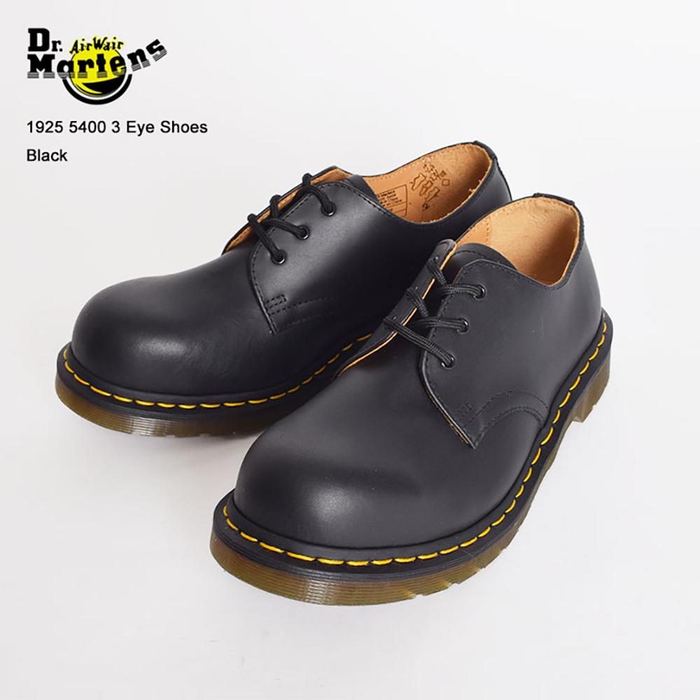 Dr.Martensドクターマーチン【R10111001】1925 5400 3EYES SHOES/Black3ホールスチールトゥシューズ革靴・ブーツ・メンズ