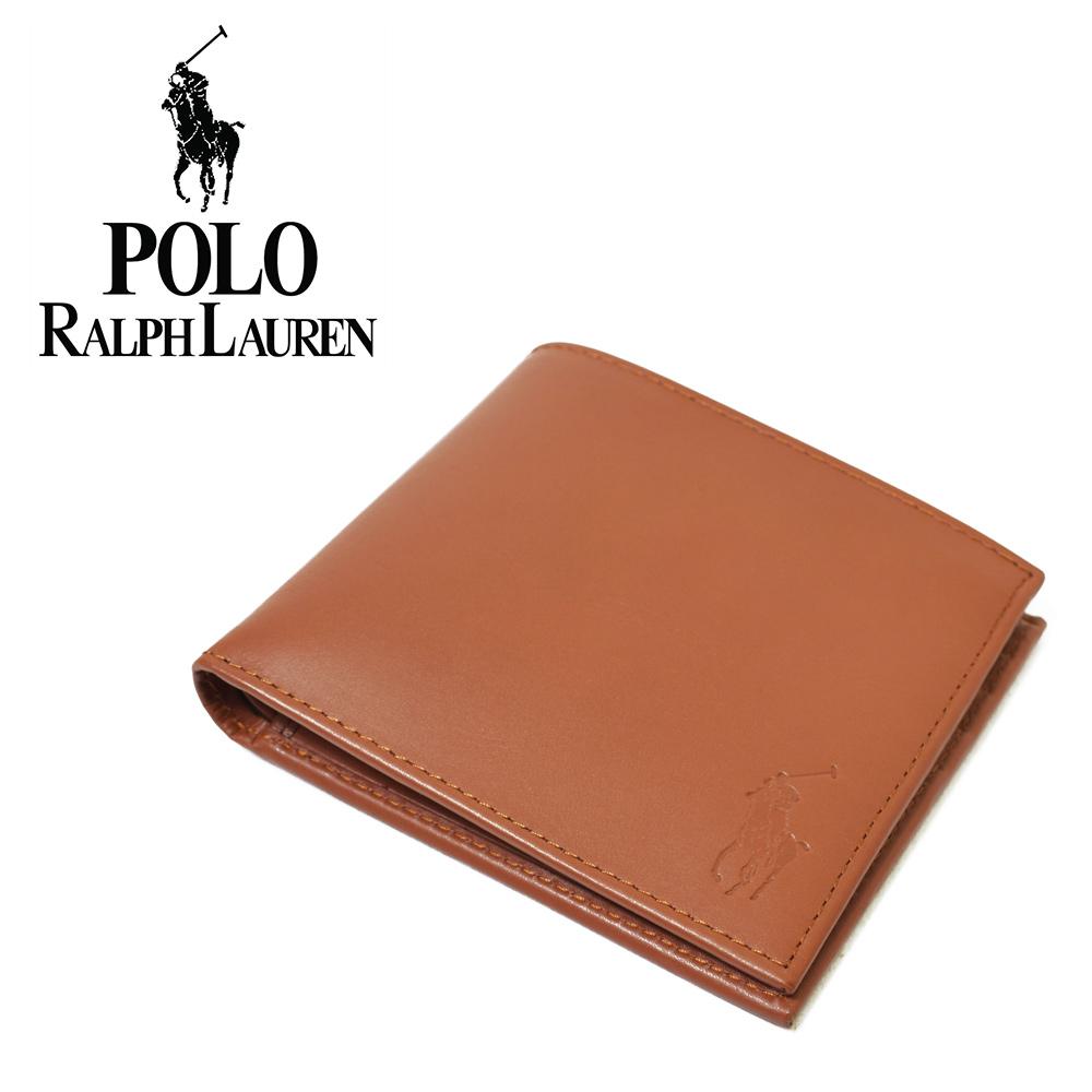 Ralph Laurenラルフ ローレン BILLFOLD-WLT-SML BROWN メンズ 2つ折り 財布 ウォレット レザー ギフト プレゼント