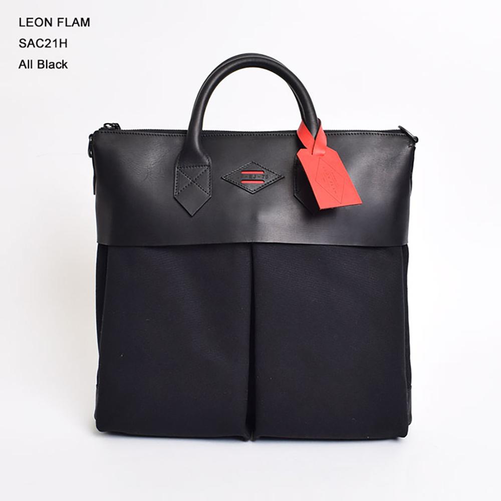 【即納可能】LEON FLAM レオンフラムSAC 21H ALL BLACKヘルメットバッグ・鞄・ショルダーバック