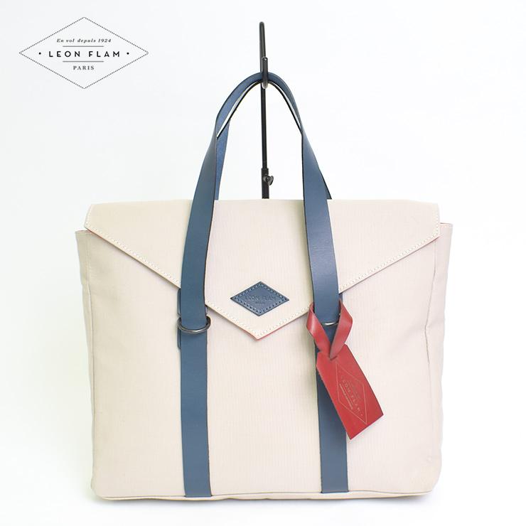 LEON FLAMレオンフラムBRIEFCASE LATE17SANDメンズ レディース バッグ 鞄 ブリーフケース