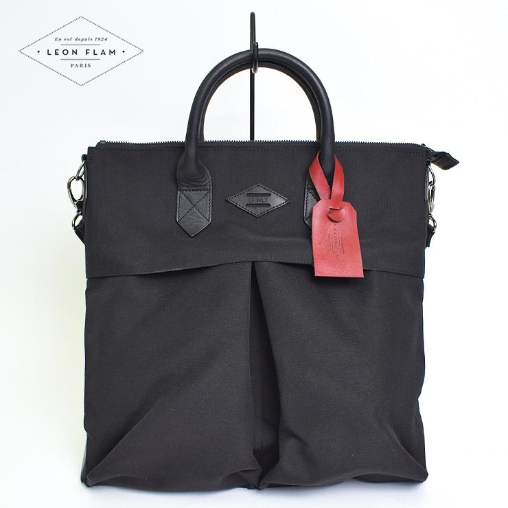【特別価格】LEON FLAMレオンフラムSAC 21H NYLONALL BLACKヘルメットバッグ メンズ バッグ 鞄