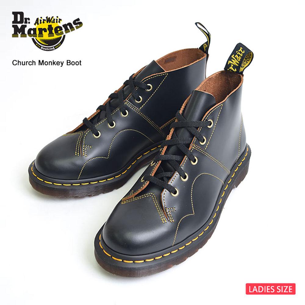 【再入荷】Dr.Martensドクターマーチン・レディース【R16054001】CHURCH MONKEY BOOTBlackチャーチ・モンキーブーツ