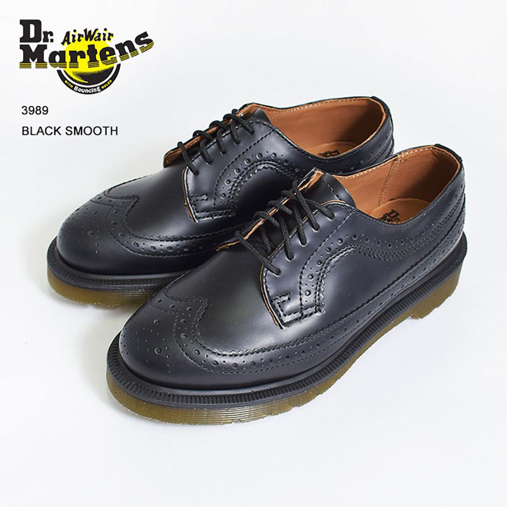 Dr.Martensドクターマーチン【R13844001】3989Black Smoothブラックメンズ レディース 靴 ドレスシューズ