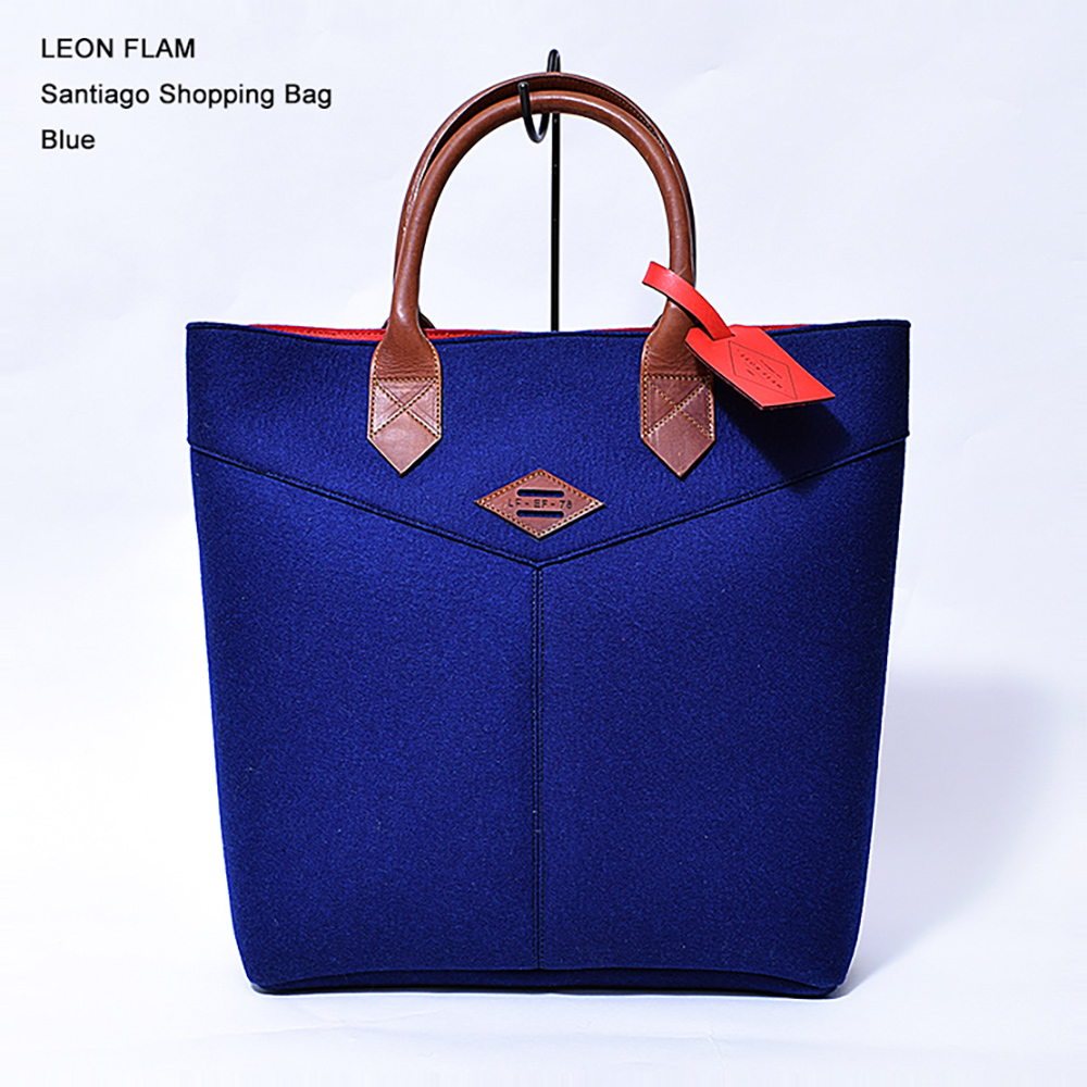LEON FLAM レオンフラムSANTIAGO SHOPPING BAG BLUEトートバッグ