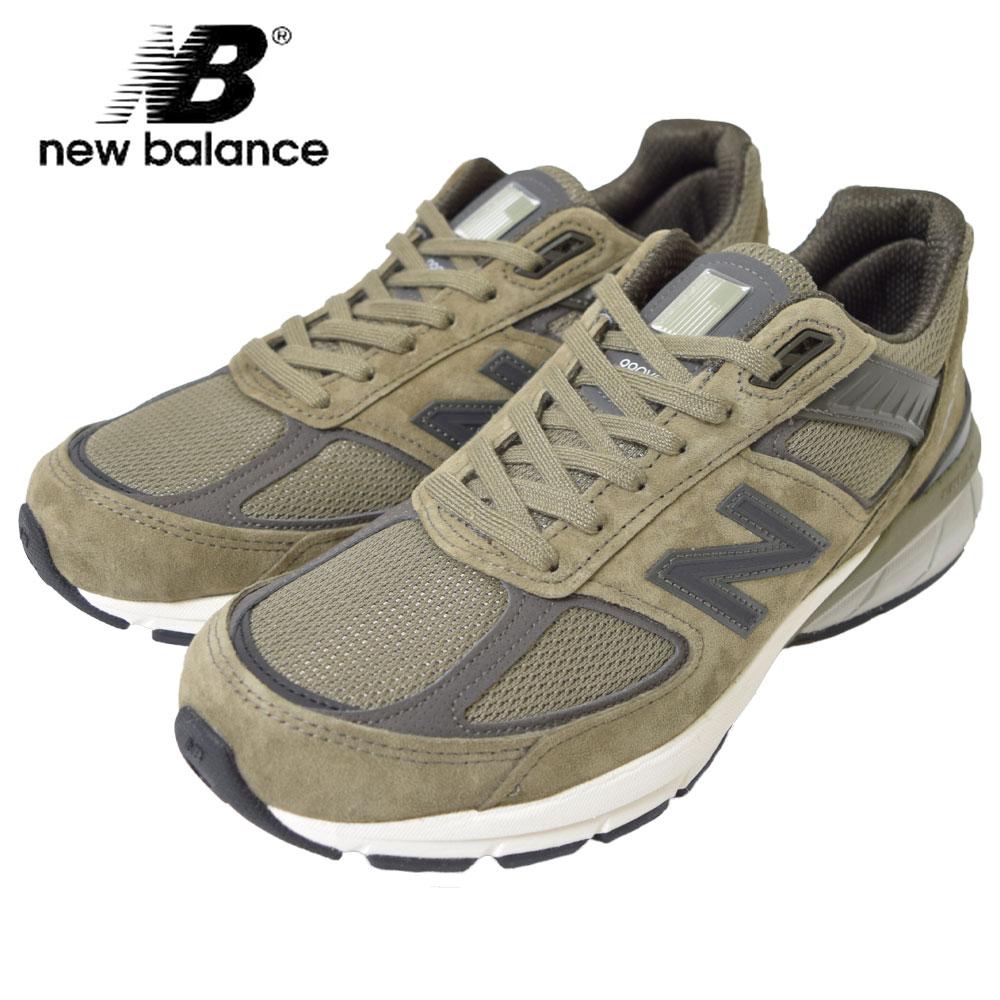 NEW BALANCEニューバランス【M990AE5】GREEN WHITEグリーン ホワイト【Dワイズ】メンズ 靴 スニーカー BRAND NB スエード フットウェア メンズランニングシューズ