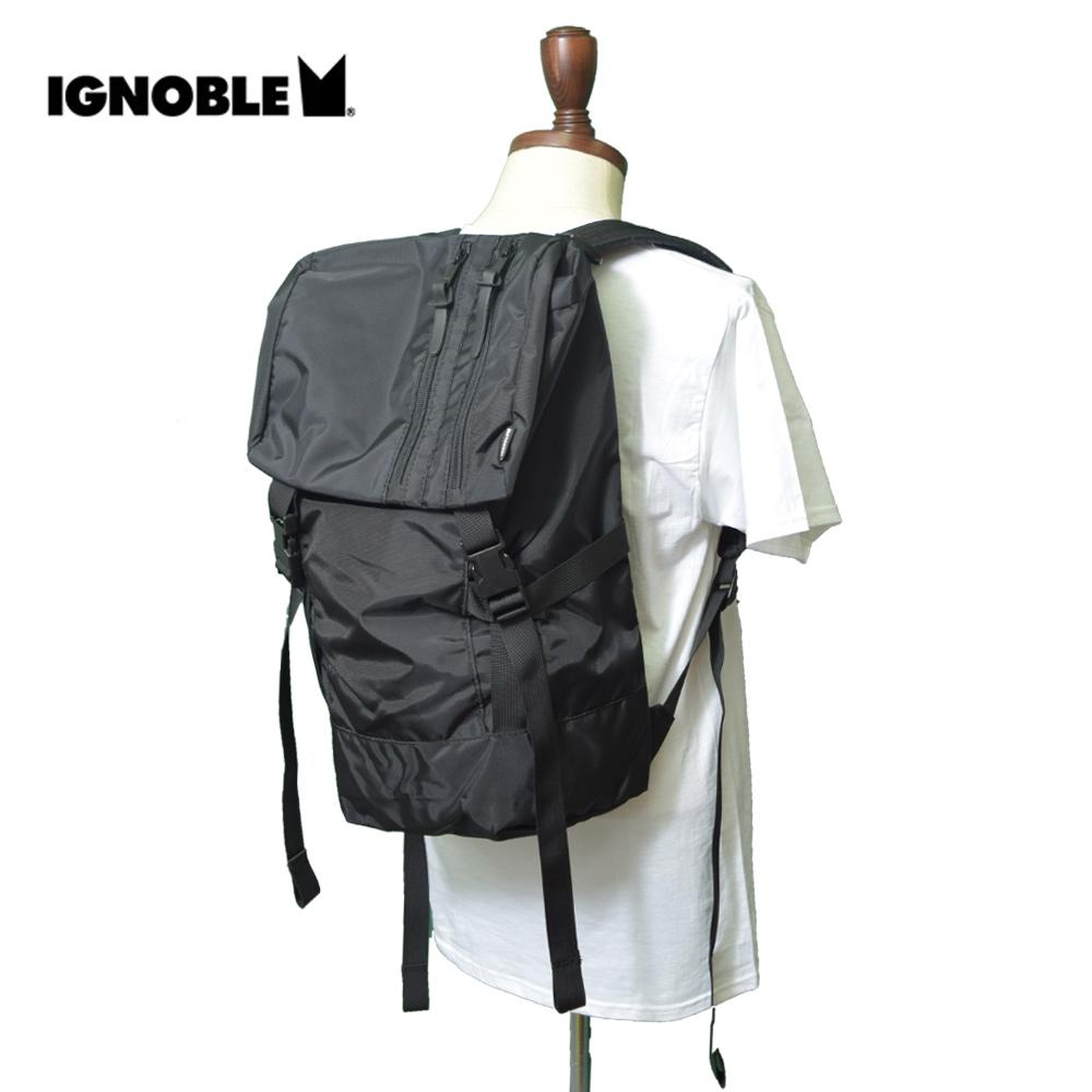 IGNOBLEイグノーブル【11022】Wakefield Tragic RucksackBlackメンズ 鞄 リュック バックパック