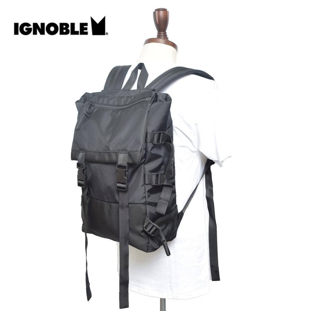 IGNOBLEイグノーブル【11026】DEVIATION RUCKSACKBlackメンズ 鞄 リュック バックパック