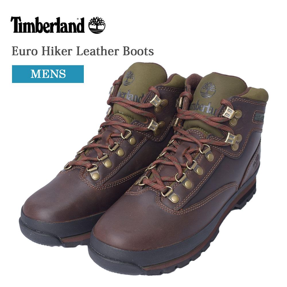 ブーツ シューズ 靴 ブランド プレゼント 贈り物 誕生日 Timberland ティンバーランド メンズ くつ BROWN アウトドア 人気の製品 Boots ブラウン カジュアル Hiker Euro Leather MENS グリーン TB095100214 時間指定不可
