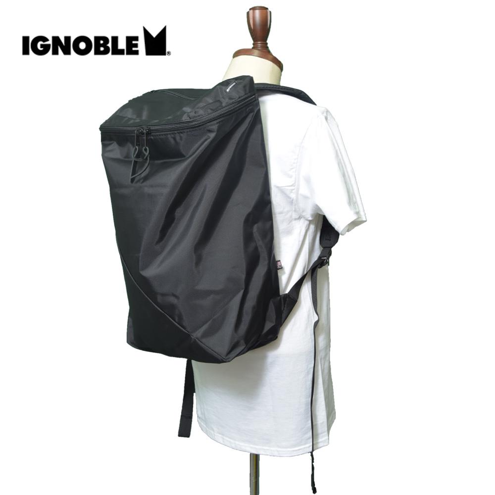 IGNOBLEイグノーブル【11027】PARENTHESIS DAYPACKBlackメンズ 鞄 リュック バックパック