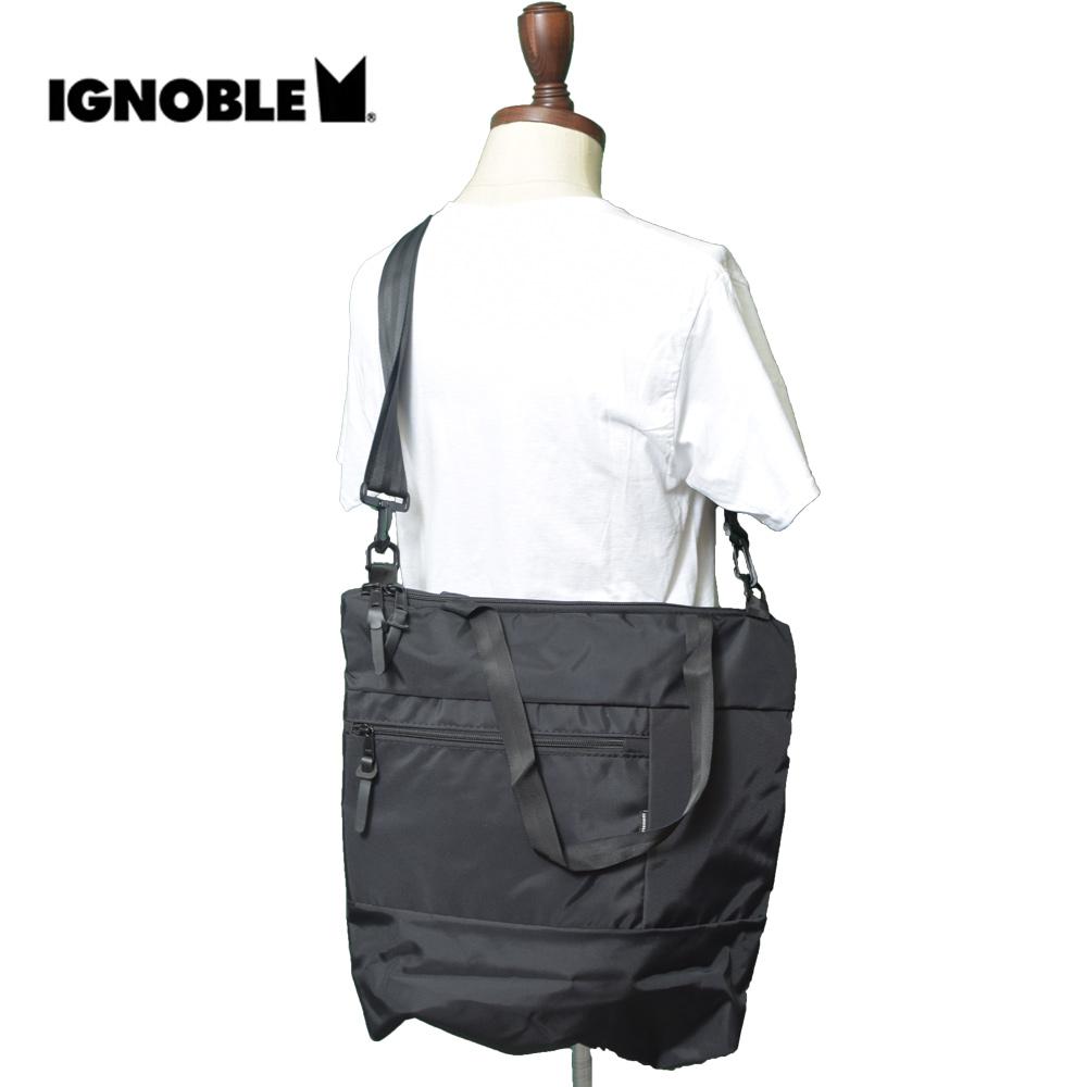 IGNOBLEイグノーブル【11030】VALEDICTION TOTEBlackメンズ 鞄 トートバック ショルダーバッグ