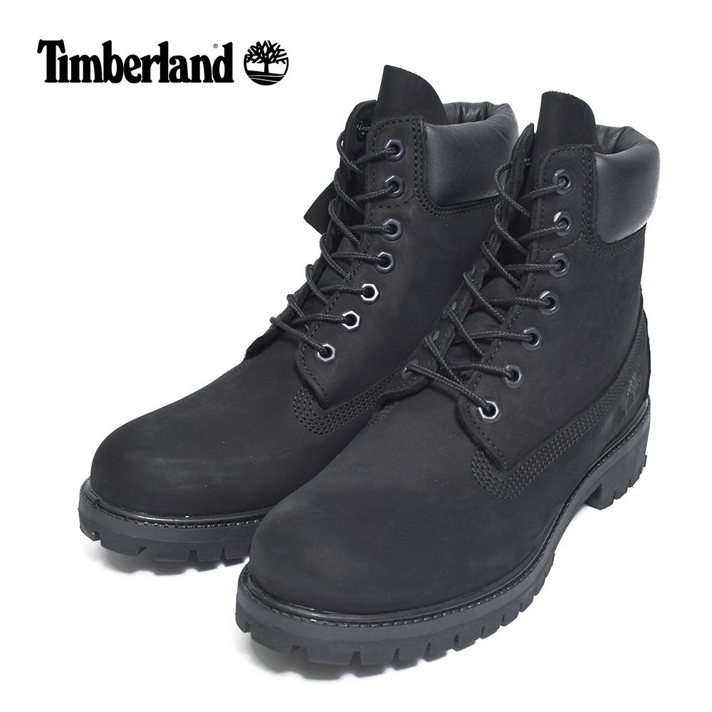 (再入荷)Timberlandティンバーランド【TB010073001】6-Inch Premium Waterproof BootsBlack Nubuck leatherメンズシューズ 靴 ブーツ レザー ブラック