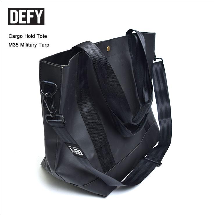 DEFY BAGSデフィーバッグスCargo Hold ToteM35 Military TarpBlackブラックショルダーバック・鞄