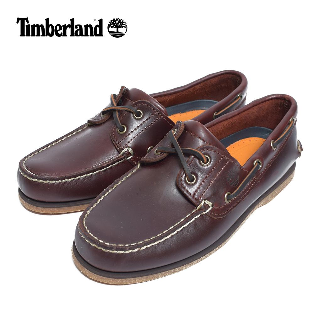 (再入荷)Timberlandティンバーランド【TB025077214】CLASSIC BOAT SHOESMEDIUM BROWN FULL GRAINメンズシューズ 靴 レザー ブラウン