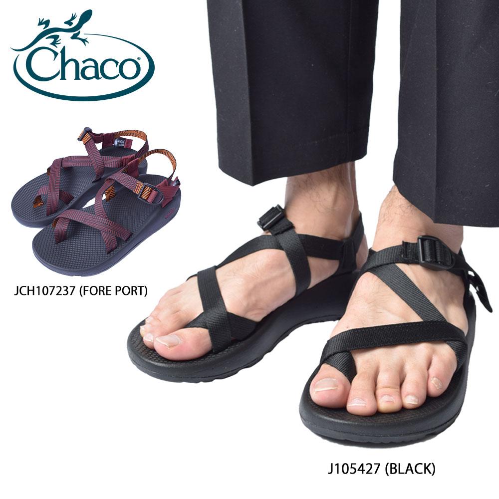 CHACO チャコ【 J105427 / JCH107237 】Z/2 CLASSIC クラシックBLACK / FORE PORT ブラック レッドメンズ 靴 サンダル スポーツサンダル シューズ 靴 ストラップ