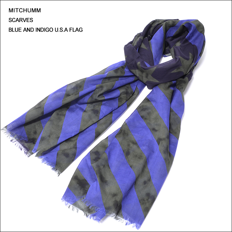 MITCHUMM(ミッチュム)SS'14Blue and Indigo U.S.A Flag Scarves星条旗柄スカーフ
