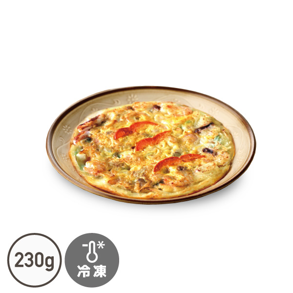 海鮮チヂミ 230g でりかおんどる 1枚 春の新作 セール特別価格