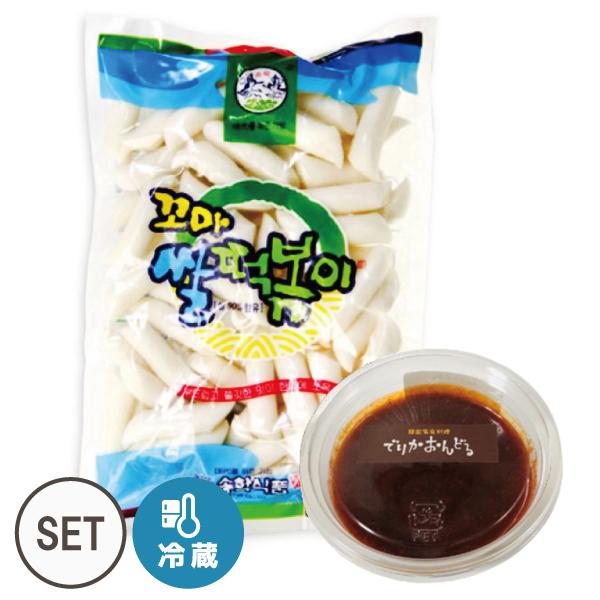 トッポッキのタレ(150g)+トッポッキのお餅(600g)セット!【でりかおんどる】