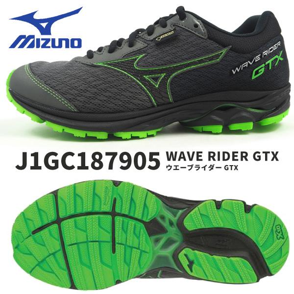 【残り/25cmのみ/特価】mizuno ミズノ ランニングシューズ ウエーブライダー GTX WAVE RIDER GTX J1GC187905 メンズ 防水透湿性 ゴアテックス GORE-TEX ランニング スポーツ ジョギング マラソン トレーニング クッション エントリーモデル