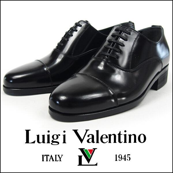 Luigi Valentino ビジネスシューズ メンズ 2906 本革 牛革 レザー 国産 日本製 3E 幅広 礼装用 冠婚葬祭 内羽根式 ストレートチップ