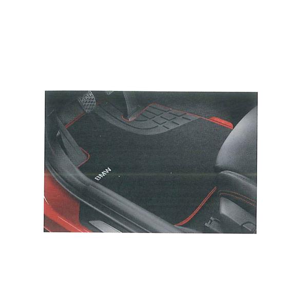 【送料無料】BMW 純正 フロント用 フロア マットセット テキスタイル スポーツ ブラック/レッド (3シリーズF30 右ハンドル用) 51472293358