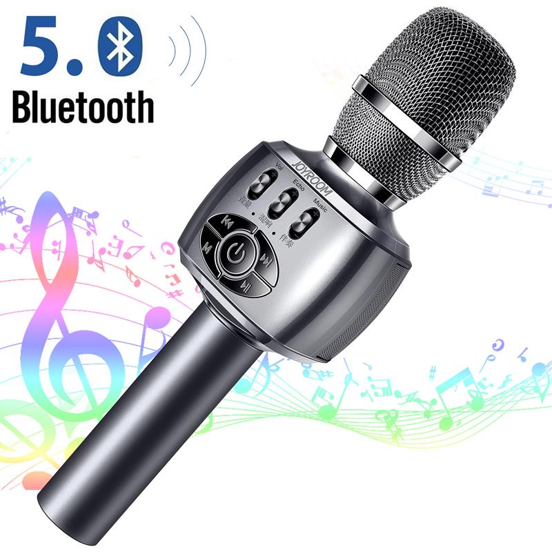 カラオケマイク bluetooth 高音質 ノイズキャンセル お買得 自動ペアリング スピーカー内蔵 宴会 新年会 即納最大半額 忘年会 パーティー 家庭用 スマホ連動 ワイヤレスマイク 2000mAh bluetooth5.0 マイク USB充電式 ポータブル 家でカラオケ ブルートゥース 3種類音声再生