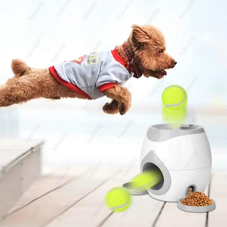 自動ボールランチャー 上品 自動ドッグボールランチャー 大特価 犬用おもちゃ ペット投げおもちゃ 自動給餌器 おやつボール 餌入れ 早食い防止 運動不足の解消 ボール2個付き 知育玩具 お留守番に 送料無料 猫犬用 ペット用品