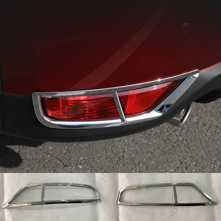 Mazda 新型 マツダ CX-5 CX5 最安値挑戦 KF系 2.2 20S XD パーツ アクセサリー 春の新作続々 傷予防 カスタム ガーニッシュ 左右セット 2P ライト ランプ 送料無料 リアフォグ 外装 カバー