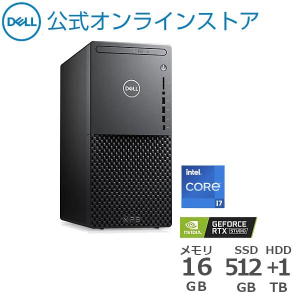 スーパーSALE期間中はP10倍 Dell公式直販 受注生産 デスクトップパソコン 新品 Windows10 プラチナプラス XPS 8940 RTX3060搭載 Intel Core SSD+1TB 第11世代 大人気 HDD 512GB 1年保証 大容量メモリ 16GB ランキングTOP5 ブラック i7