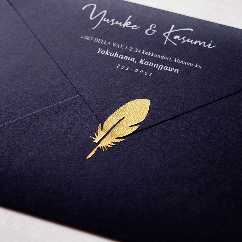 招待状の見栄えが劇的に変わります マーケット 30枚入り 封緘シール Wedding - Seal #feather 国内正規総代理店アイテム Invitation