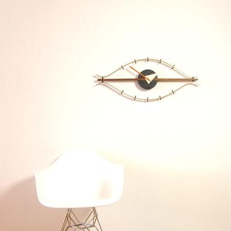 アイクロック Eye Clock ジョージ・ネルソン George Nelson デザイナーズ時計 おしゃれ ジェネリック製品 リプロダクト 復刻版 掛け時計