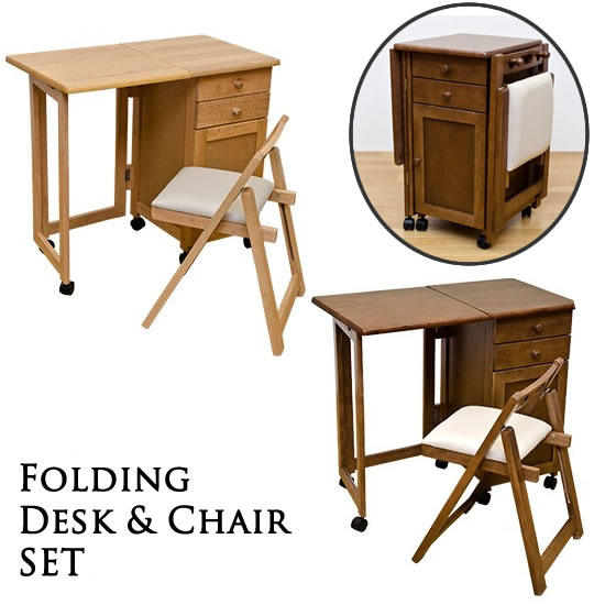 Desk Chair set natural wood folding desk \u0026&; Chair set drawer type desk wood folding desk sidebar folding desk desk fashionable writing desk pc Desk ...  sc 1 st  Rakuten : wooden folding table and chairs set - pezcame.com