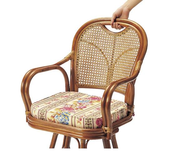 Rattan Rattan Swivel Chair, Latin Rotation Chair Middle Type Rotating Chair  Chair Chair Tatami Japanese