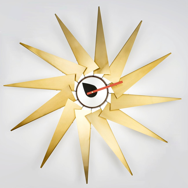 タービンクロック Turbin Clock ジョージ・ネルソン George Nelson デザイナーズ時計 おしゃれ ジェネリック製品 リプロダクト 復刻版 掛け時計