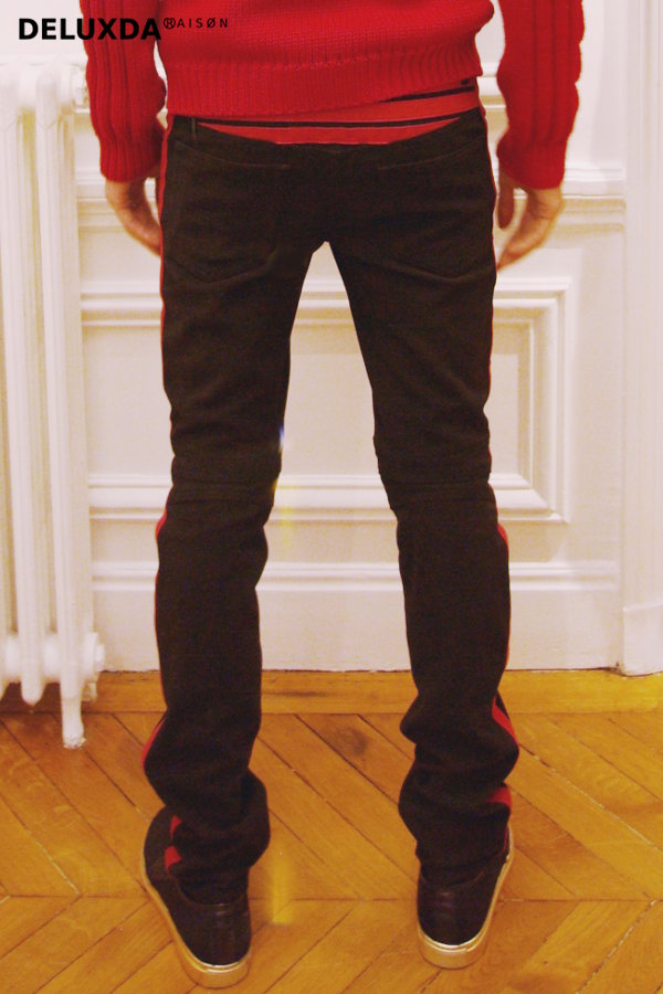 【正規代理店商品】BALMAIN バルマン AW   コットン バイカー パンツ 52.T571.D128-218(RED) 15.16