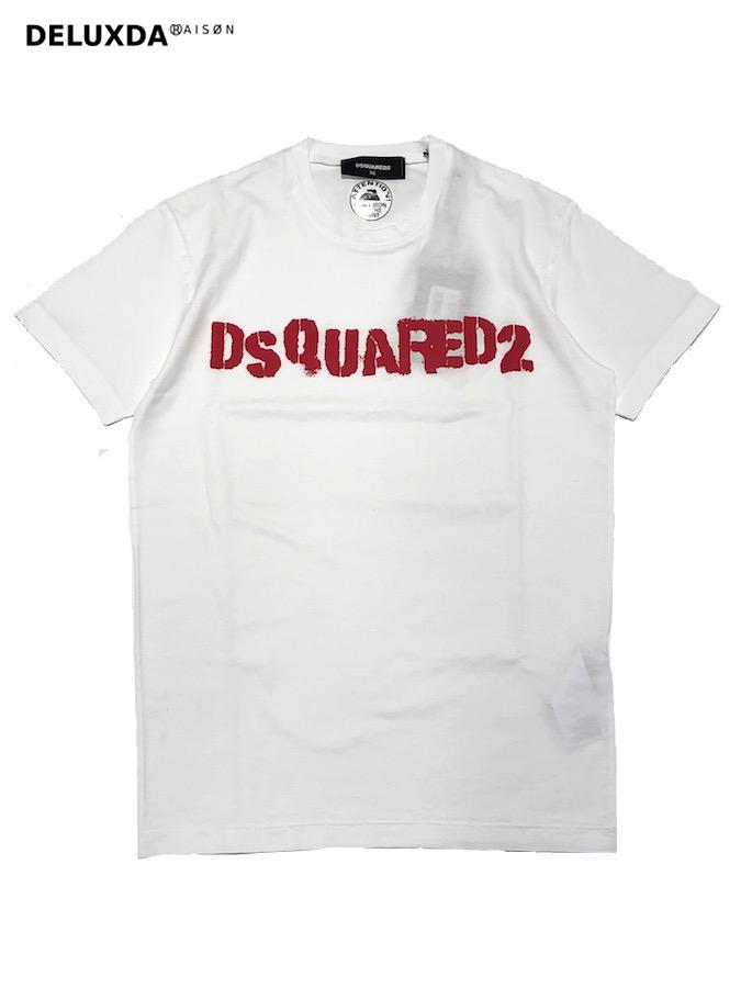 【正規代理店商品】DSQUARED2 ディースクエアード ロゴTシャツ S74GD0494 WHITE 19.00