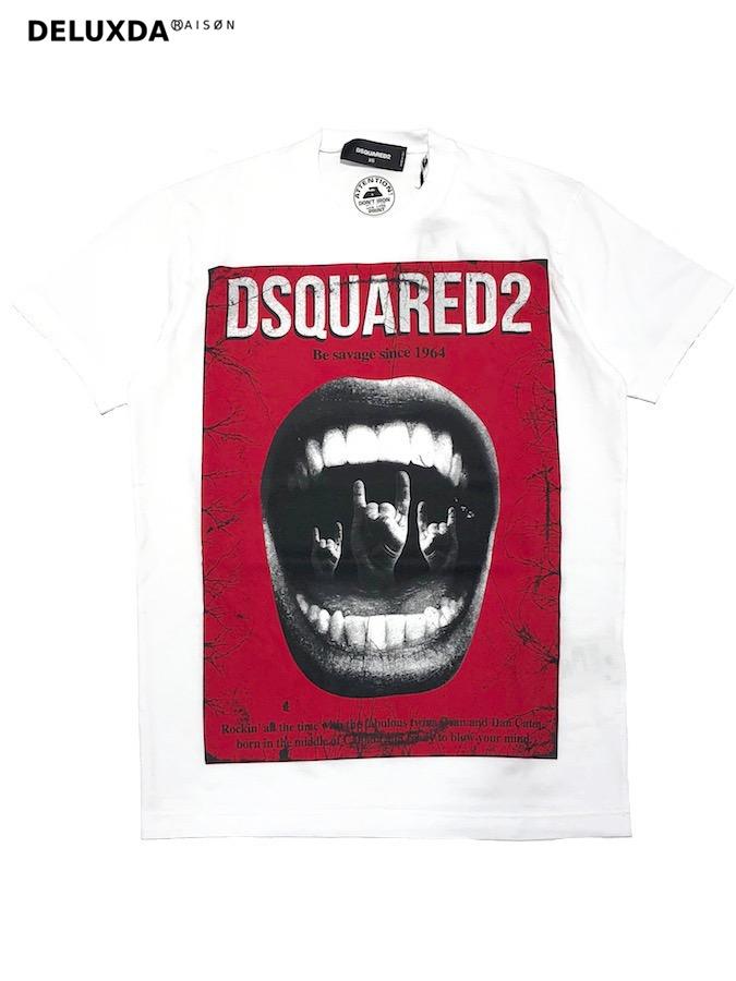 【正規代理店商品】DSQUARED2 ディースクエアード マウスプリントTシャツ S74GD0476 19.00