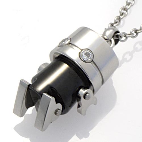 ネックレス ステンレス アクセサリー ロボット ネックレス PIP6101-BK PLUG IN ブラック
