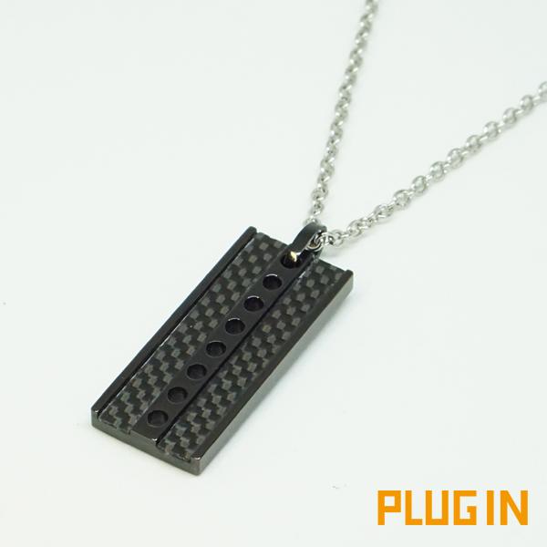 カーボン ネックレス ステンレス アレルギーフリー PLUG IN PIP0508-BK メンズ レディース