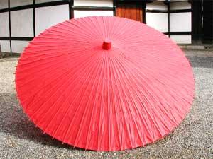 【送料込み!改定価格】本式野点傘 2.5尺 (赤)