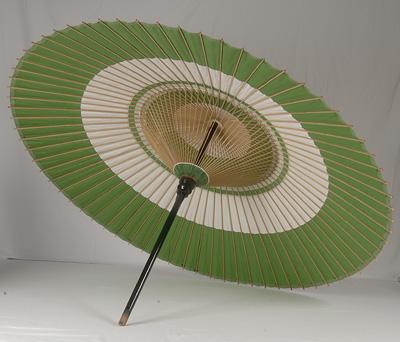 【送料込み!改定価格】本式野点傘 3.5尺 (緑白、赤白)