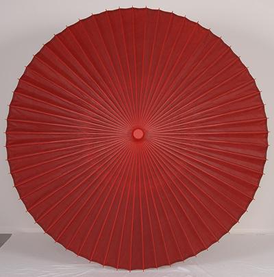 【送料込み!改定価格】本式野点傘 5尺 (赤)