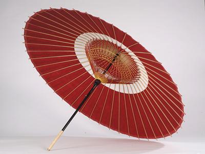 【送料込み!改定価格】蛇の目傘 (中入) 赤白
